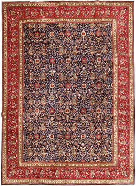 Tabriz Patina Vloerkleed 290X397 Echt Oosters Handgeknoopt Donkerrood/Donkerpaars Groot (Wol, Perzië/Iran)