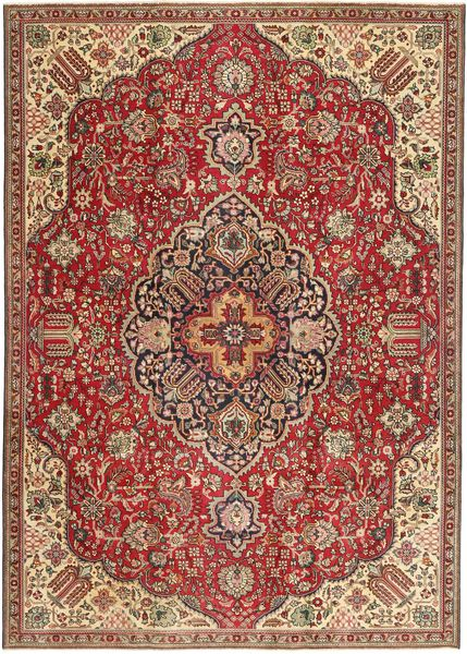 Tabriz Patina Vloerkleed 230X328 Echt Oosters Handgeknoopt Donkerbruin/Donkerrood (Wol, Perzië/Iran)