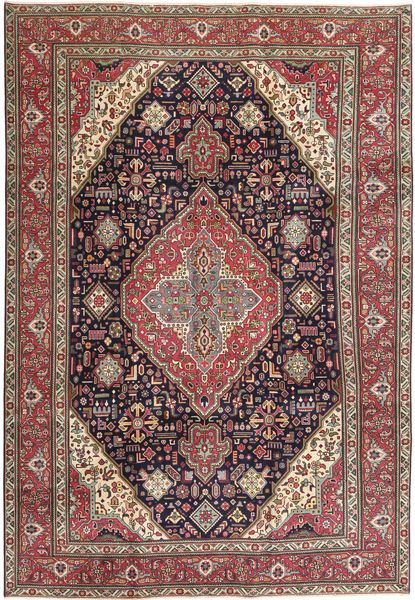Tabriz Patina Vloerkleed 233X340 Echt Oosters Handgeknoopt Donkerrood/Donkerbruin (Wol, Perzië/Iran)