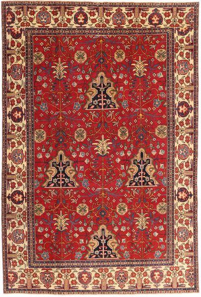 Tabriz Patina Vloerkleed 210X322 Echt Oosters Handgeknoopt Donkerrood/Roestkleur (Wol, Perzië/Iran)