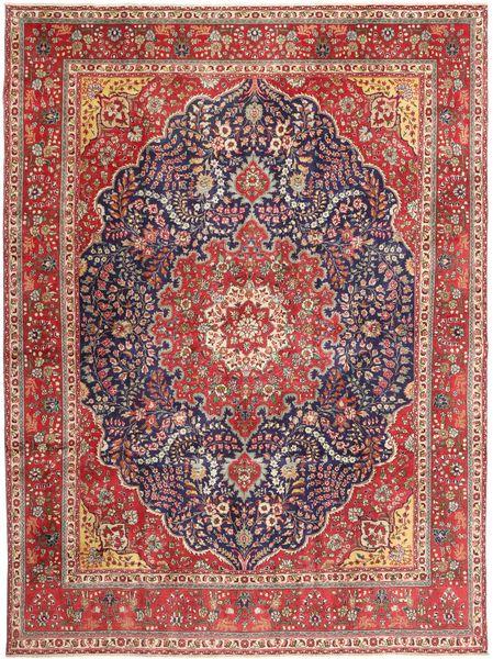 Tabriz Patina Vloerkleed 295X390 Echt Oosters Handgeknoopt Donkerrood/Bruin Groot (Wol, Perzië/Iran)