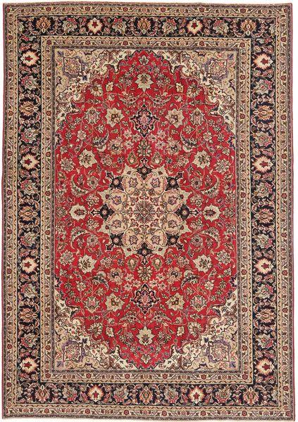 Tabriz Patina Vloerkleed 200X287 Echt Oosters Handgeknoopt Donkerrood/Bruin (Wol, Perzië/Iran)