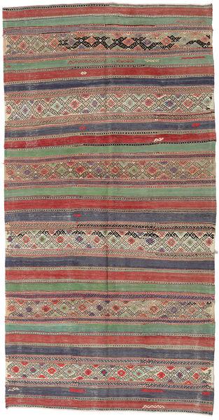 Kelim Turkije Vloerkleed 152X295 Echt Oosters Handgeweven Lichtgrijs/Donkergrijs (Wol, Turkije)