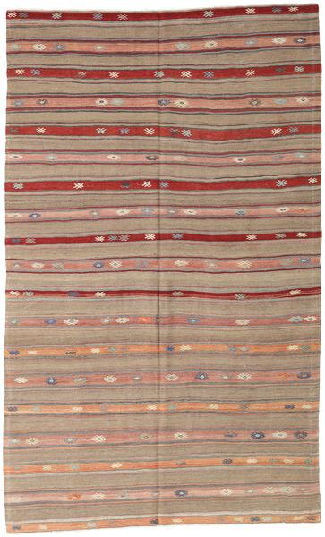 Kelim Turkije Vloerkleed 162X274 Echt Oosters Handgeweven Lichtgrijs/Bruin/Lichtbruin (Wol, Turkije)