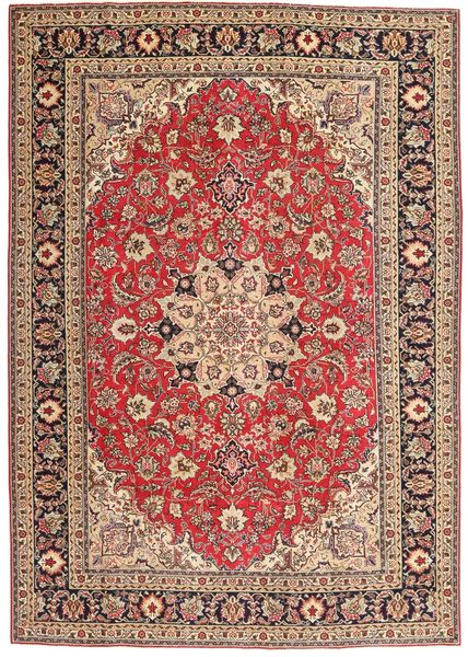 Tabriz Patina Vloerkleed 200X287 Echt Oosters Handgeknoopt Donkerrood/Donkerbruin (Wol, Perzië/Iran)