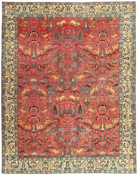 Tabriz Patina Vloerkleed 248X318 Echt Oosters Handgeknoopt Donkerrood/Roestkleur (Wol, Perzië/Iran)