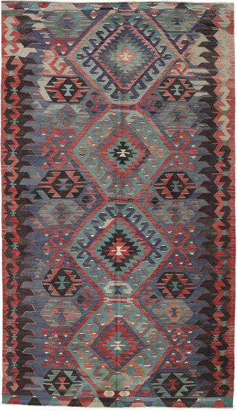 Kelim Turkije Vloerkleed 180X312 Echt Oosters Handgeweven Donkerrood/Zwart (Wol, Turkije)