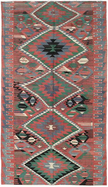Kelim Turkije Vloerkleed 180X320 Echt Oosters Handgeweven Roestkleur/Donkergrijs (Wol, Turkije)