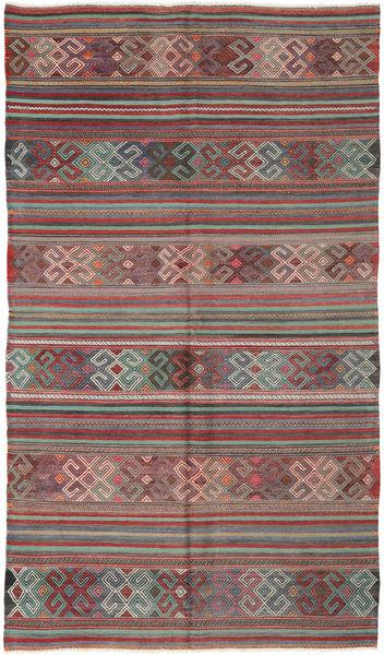 Kelim Turkije Vloerkleed 174X294 Echt Oosters Handgeweven Donkerrood/Donkergrijs (Wol, Turkije)