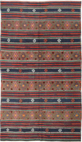Kelim Turkije Vloerkleed 175X308 Echt Oosters Handgeweven Donkerrood/Donkergrijs (Wol, Turkije)