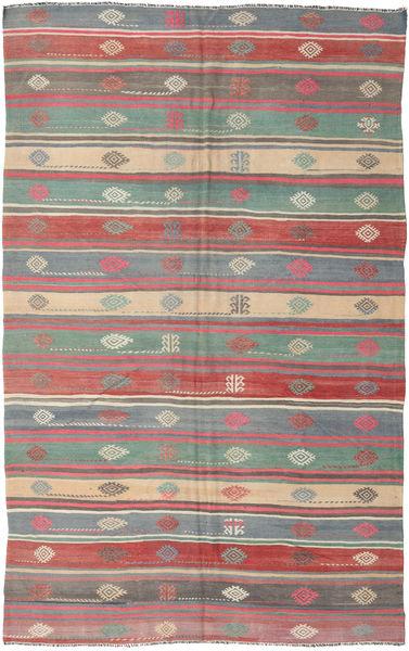 Kelim Turkije Vloerkleed 192X297 Echt Oosters Handgeweven Donkergrijs/Lichtgrijs (Wol, Turkije)