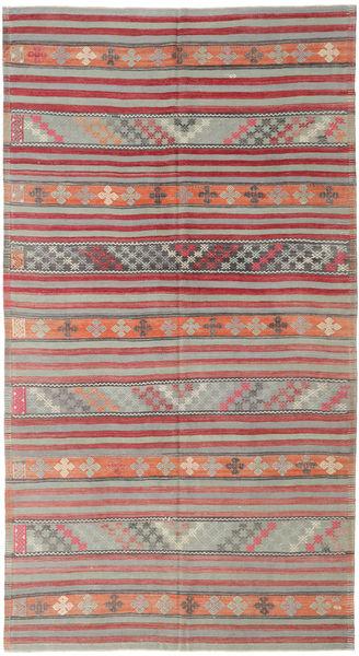 Kelim Turkije Vloerkleed 180X334 Echt Oosters Handgeweven Lichtgrijs/Bruin (Wol, Turkije)