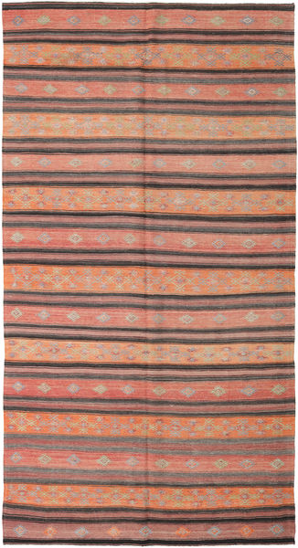 Kelim Turkije Vloerkleed 178X334 Echt Oosters Handgeweven Lichtbruin/Donkerrood (Wol, Turkije)