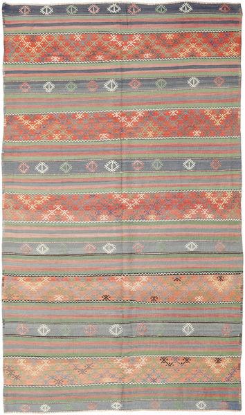 Kelim Turkije Vloerkleed 177X308 Echt Oosters Handgeweven Lichtbruin/Donkerrood (Wol, Turkije)