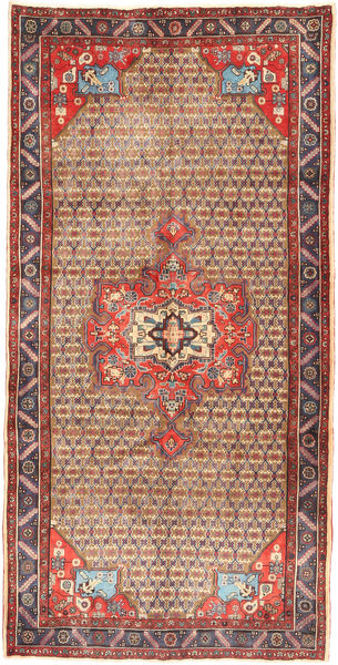 Koliai Vloerkleed 158X320 Echt Oosters Handgeknoopt Tapijtloper Donkerrood/Bruin (Wol, Perzië/Iran)