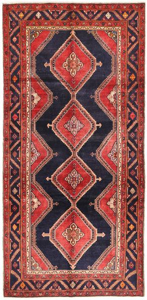 Koliai Vloerkleed 151X310 Echt Oosters Handgeknoopt Tapijtloper Donkerrood/Donkerpaars (Wol, Perzië/Iran)