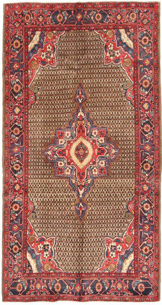 Koliai Vloerkleed 155X300 Echt Oosters Handgeknoopt Tapijtloper Donkerrood/Roestkleur (Wol, Perzië/Iran)