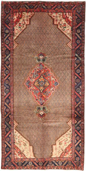 Koliai Vloerkleed 155X320 Echt Oosters Handgeknoopt Donkerrood/Donkerbruin/Bruin (Wol, Perzië/Iran)