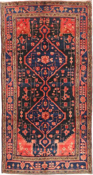 Koliai Vloerkleed 160X304 Echt Oosters Handgeknoopt Tapijtloper Donkerrood/Zwart (Wol, Perzië/Iran)