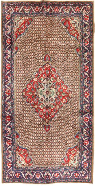 Koliai Vloerkleed 157X304 Echt Oosters Handgeknoopt Tapijtloper Donkerrood/Donkerbruin (Wol, Perzië/Iran)