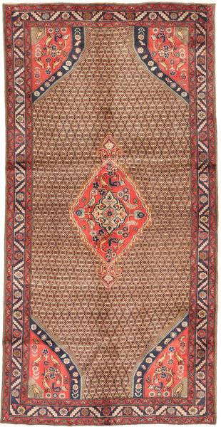 Koliai Vloerkleed 148X291 Echt Oosters Handgeknoopt Tapijtloper Donkerrood/Bruin (Wol, Perzië/Iran)
