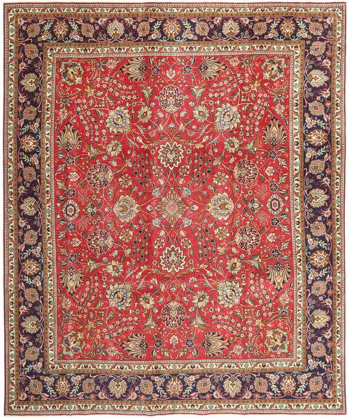 Tabriz Patina Vloerkleed 288X342 Echt Oosters Handgeknoopt Donkerrood/Roestkleur Groot (Wol, Perzië/Iran)