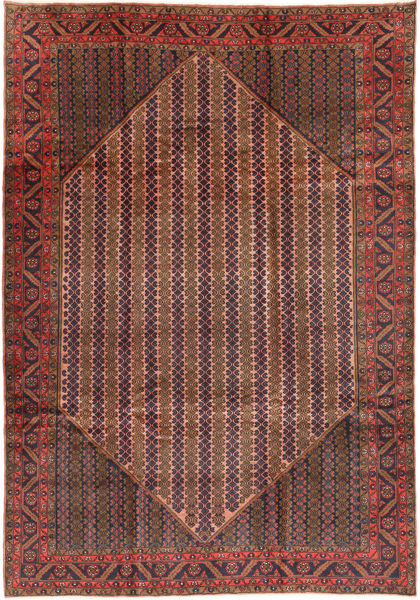 Koliai Vloerkleed 200X288 Echt Oosters Handgeknoopt Bruin/Donkerrood (Wol, Perzië/Iran)