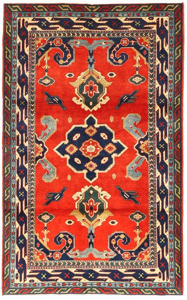 Kazak Vloerkleed 105X173 Echt Oosters Handgeknoopt Donkergrijs/Rood (Wol, Azerbeidzjan/Rusland)