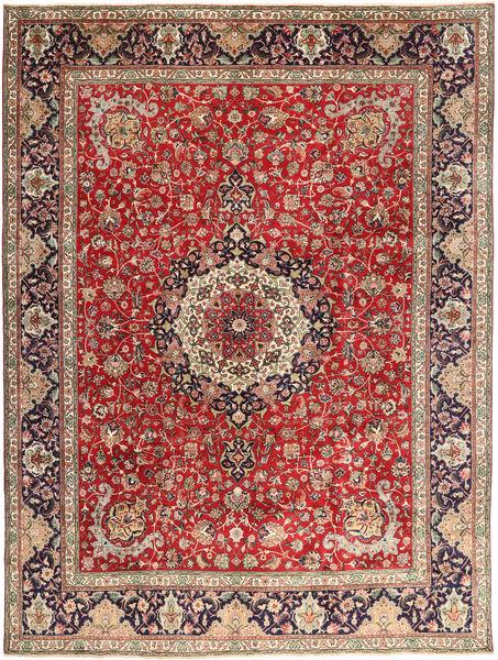Tabriz Vloerkleed 292X393 Echt Oosters Handgeknoopt Donkerrood/Roestkleur Groot (Wol, Perzië/Iran)