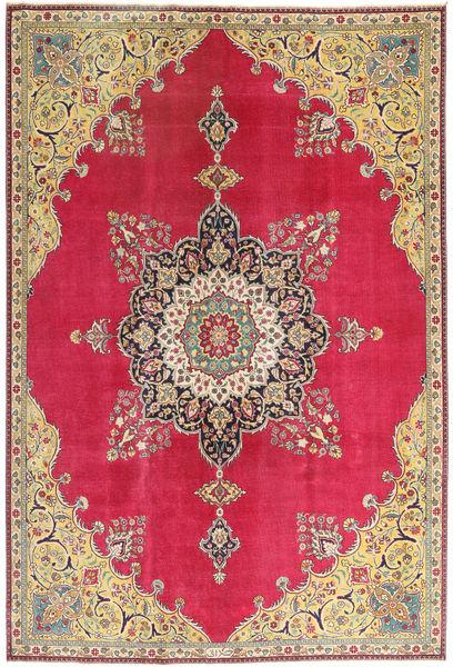 Tabriz Patina Vloerkleed 220X318 Echt Oosters Handgeknoopt Rood/Donkerbeige (Wol, Perzië/Iran)
