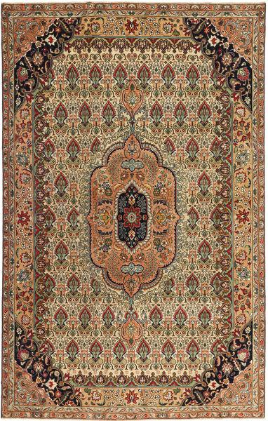 Tabriz Patina Vloerkleed 195X305 Echt Oosters Handgeknoopt Bruin/Lichtbruin (Wol, Perzië/Iran)