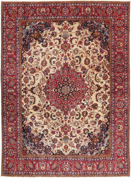 Tabriz Patina Vloerkleed 286X380 Echt Oosters Handgeknoopt Donkerrood/Donkerbruin Groot (Wol, Perzië/Iran)
