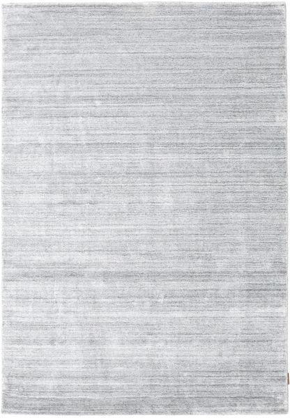 Bamboe Zijde Loom - Grijs Vloerkleed 160X230 Modern Wit/Creme/Lichtgrijs ( India)