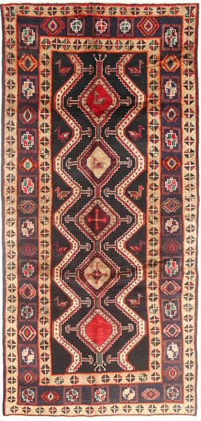Koliai Vloerkleed 140X308 Echt Oosters Handgeknoopt Tapijtloper Donkerrood/Donkerbruin (Wol, Perzië/Iran)