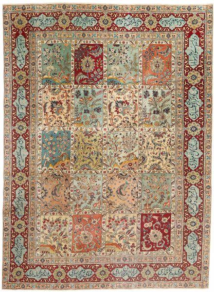 Tabriz Patina Vloerkleed 237X320 Echt Oosters Handgeknoopt Lichtbruin/Bruin (Wol, Perzië/Iran)