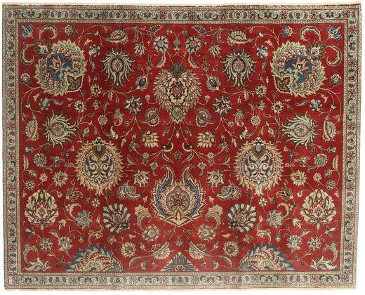 Tabriz Patina Vloerkleed 183X230 Echt Oosters Handgeknoopt Donkerrood/Lichtbruin (Wol, Perzië/Iran)