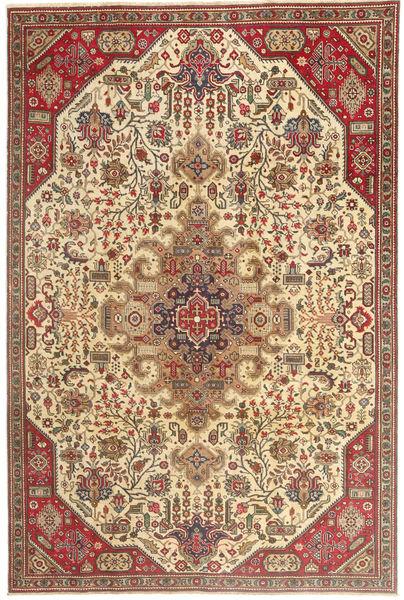 Tabriz Patina Vloerkleed 190X280 Echt Oosters Handgeknoopt Lichtbruin/Beige (Wol, Perzië/Iran)