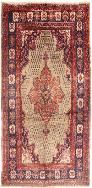 Koliai Vloerkleed 150X315 Echt Oosters Handgeknoopt Tapijtloper Donkerrood/Roestkleur (Wol, Perzië/Iran)
