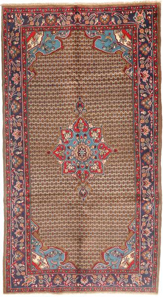 Koliai Vloerkleed 115X292 Echt Oosters Handgeknoopt Tapijtloper Donkerrood/Bruin (Wol, Perzië/Iran)
