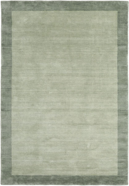 Handloom Frame - Grijs/Groen Vloerkleed 160X230 Modern Lichtgroen/Pastel Groen (Wol, India)