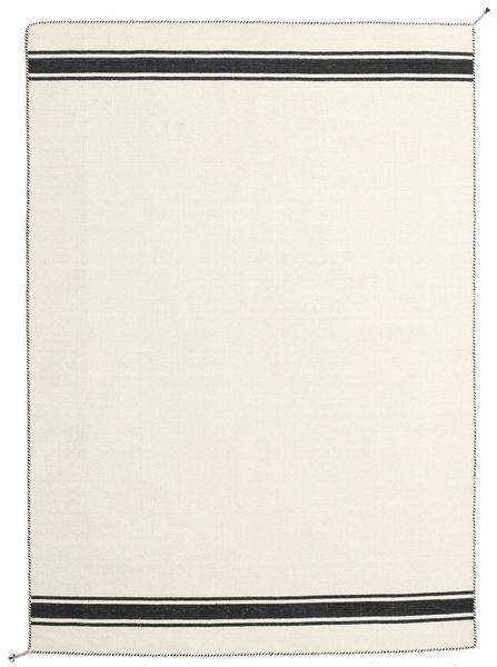 Ernst - Gebroken Wit/Zwart Vloerkleed 170X240 Echt Modern Handgeweven Beige (Wol, India)