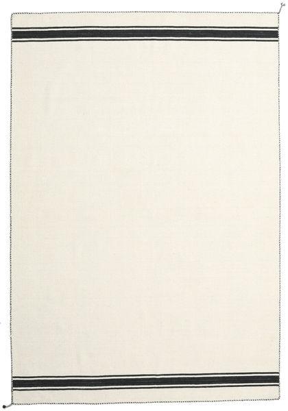 Ernst - Gebroken Wit/Zwart Vloerkleed 200X300 Echt Modern Handgeweven Beige (Wol, India)