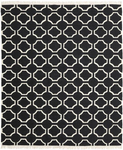 London - Zwart/Gebroken Wit Vloerkleed 250X300 Echt Modern Handgeweven Zwart Groot (Wol, India)