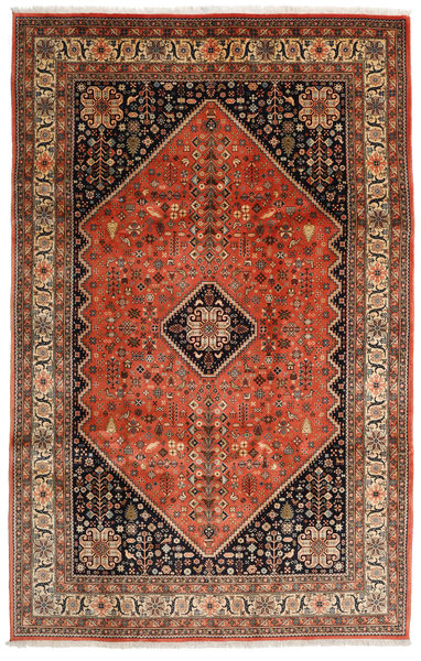 Abadeh Vloerkleed 198X308 Echt Oosters Handgeknoopt Donkerbruin/Rood (Wol, Perzië/Iran)
