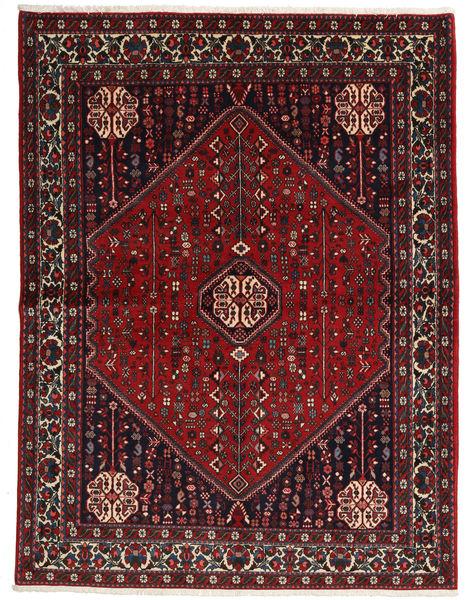 Abadeh Sherkat Farsh Vloerkleed 155X204 Echt Oosters Handgeknoopt Donkerrood/Zwart (Wol, Perzië/Iran)