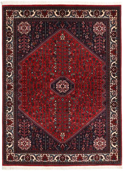 Abadeh Sherkat Farsh Vloerkleed 154X202 Echt Oosters Handgeknoopt Zwart/Donkerrood (Wol, Perzië/Iran)