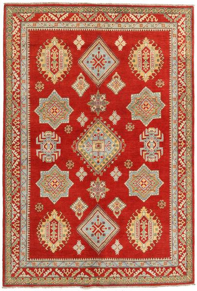 Kazak Vloerkleed 166X247 Echt Oosters Handgeknoopt Roestkleur/Donkerbeige (Wol, Afghanistan)