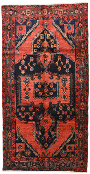 Lori Vloerkleed 155X300 Echt Oosters Handgeknoopt Tapijtloper Donkerrood/Donkerbruin (Wol, Perzië/Iran)