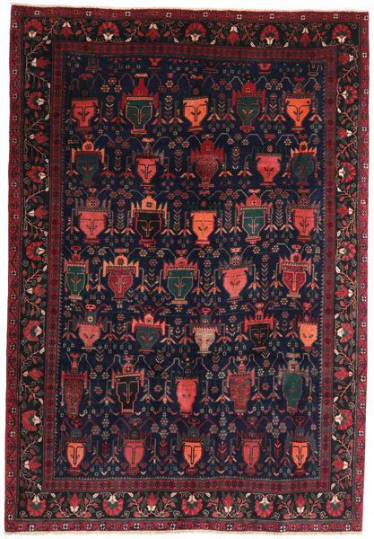 Afshar/Sirjan Vloerkleed 194X275 Echt Oosters Handgeknoopt Zwart/Donkerbruin (Wol, Perzië/Iran)