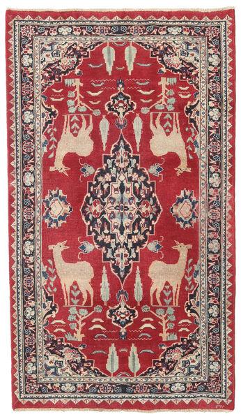 Mashad Patina Vloerkleed 104X182 Echt Oosters Handgeknoopt Rood/Donkergrijs (Wol, Perzië/Iran)